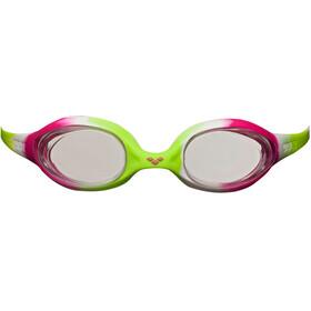 arena Spider Goggles Juniors lime fuchsia-white-clear